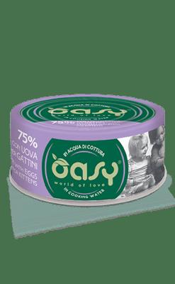 Oasy - Umido Cat More Love - Pollo con uova per Gattini. 70gr