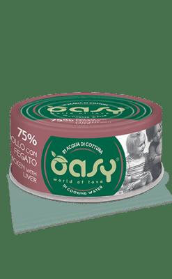Oasy - Umido Cat More Love - Pollo con Fegato. 70gr