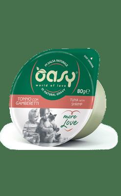Oasy - Umido Cat More Love - Tonno con Gamberetti. Cup 80gr