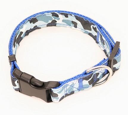 Dog Collar - Collare cane blu. Taglia L regolabile