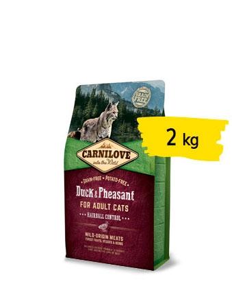 Carnilove - Crocchette Gatto Hairball Anatra Fagiano. 2kg