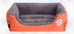 Morbida Cuccia rettangolo cani e gatti. Arancio Small - 40x33x10