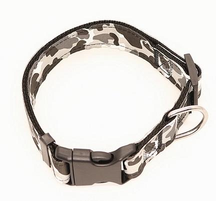 Dog Collar - Collare cane grigio. Taglia M regolabile