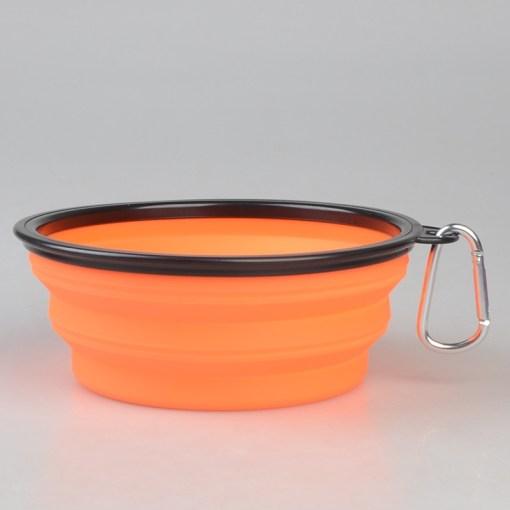 Ciotola da viaggio pieghevole. Arancio - 1litro