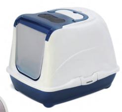 Record - Toilette lettiera chiusa HOME. Colore blu. 50x39x37 cm