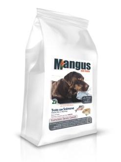 Mangus del Sole - Dog Grain Free Senior Light Trota Salmone. 12kg