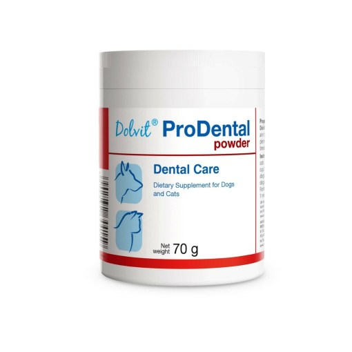 Dolfos - Dolvit Prodental powder cani gatti. Denti e alito. 70gr