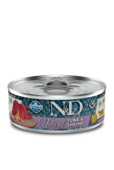 Farmina - N&D Umido Cat Natural Tonno e Gamberetti. 80gr