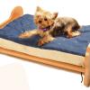 Record - Cuccia lettino in legno con materassino. 70x50x30