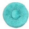 Cuccia Cianbella cuscino soffice in cotone. Azzurro mare diam 50cm