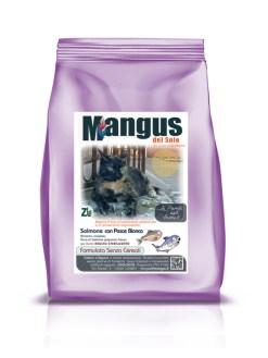 Mangus del Sole - Superfood grain free gatto sterilizzato salmone e pesce bianco. 300gr