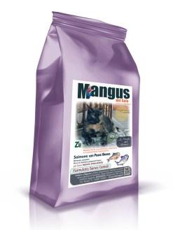 Mangus del Sole - Superfood grain free gatto sterilizzato salmone e pesce bianco. 5kg