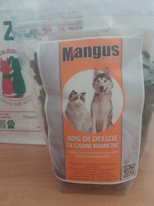 Mangus del Sole - Dog Snack grain free 80% delizie di pollo. 500gr