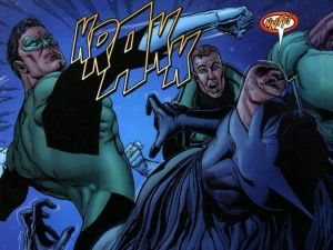 Green Lantern Punches Batman