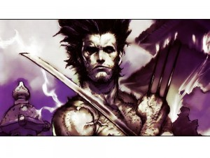 wolverine with sword