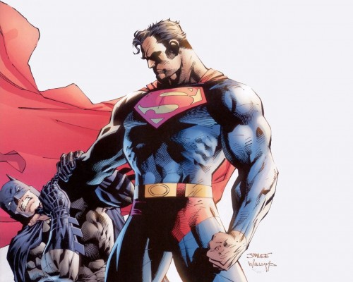 Jim Lee – Superman Choking Batman