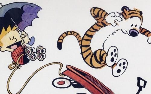 Calvin And Hobbes – Wagon and Umbrella