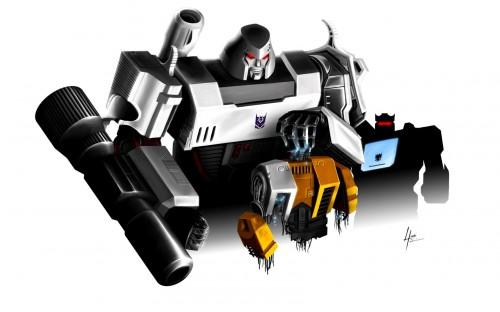 Megatron and Soundwave kill Autobots