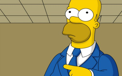 Simpsons – Homer Points Left