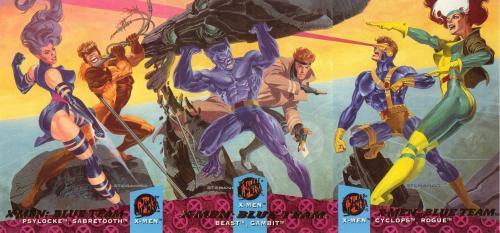 X-Men blue team Trading Card