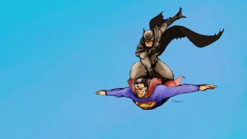 batman rides superman