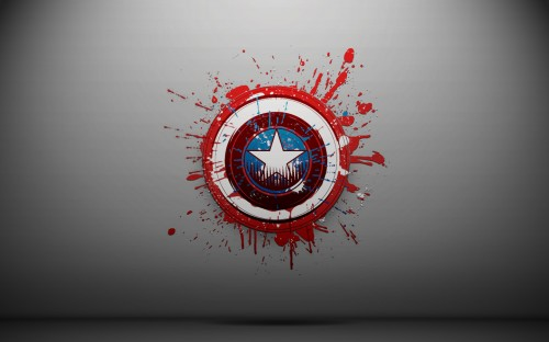 bloody captain america shield
