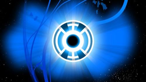 blue lantern logo in space