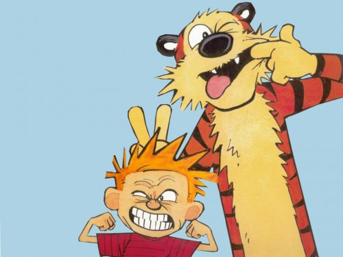 calvin and hobbes – funny faces