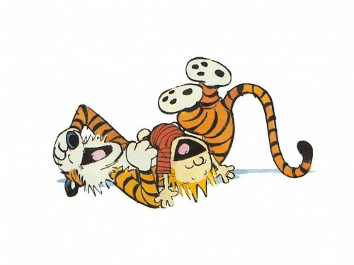 calvin and hobbes laugh