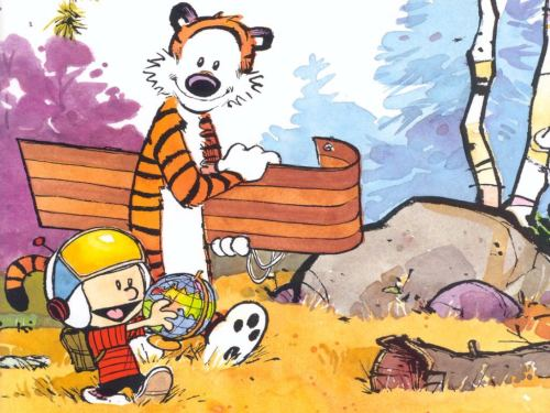 calvin and hobbes – snowless tobaggan helmet globe