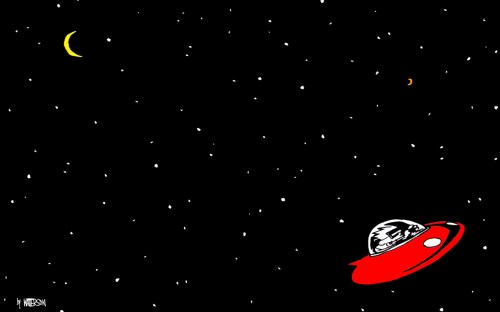 calvin and hobbes – space man spiff in space
