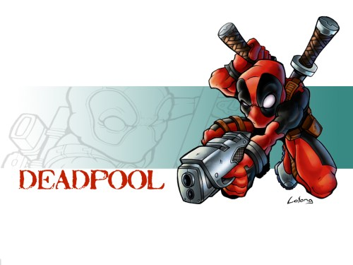 deadpool on white