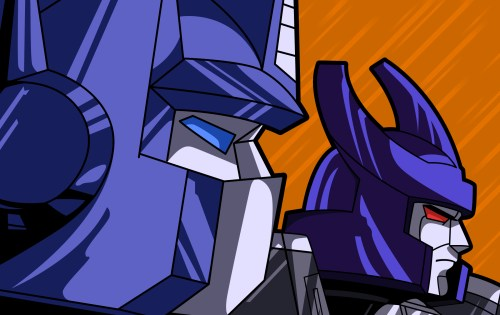 optimus prime and that one guy