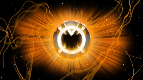 orange lantern logo in space