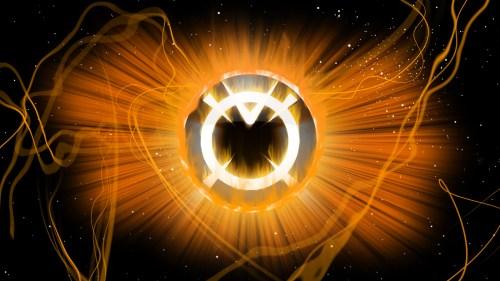 orange lantern logo in space