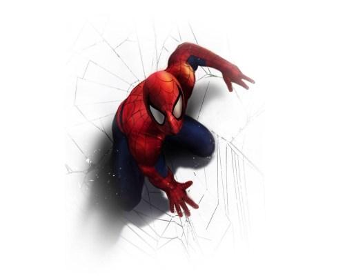 spider-man on white