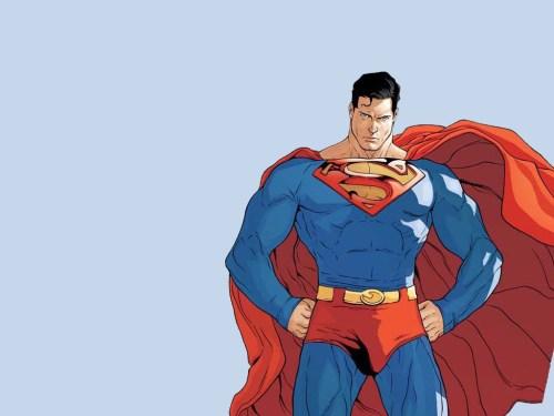 superman lookin stern