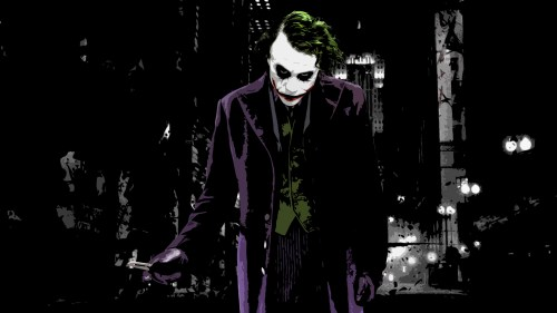 the joker and his knife