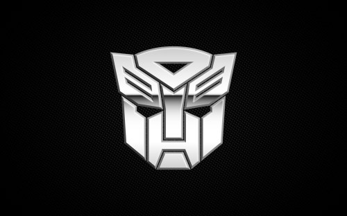 white autobots logo