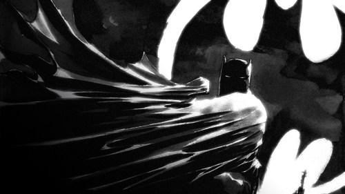 batman with bat light