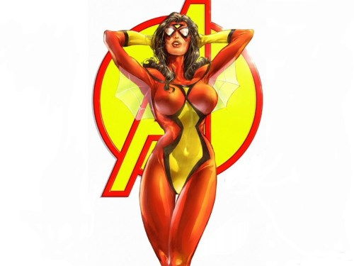 busty spider-woman