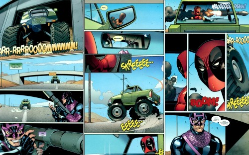 deadpool dodges a rocket