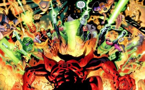 green lantern corps – blazing combat time