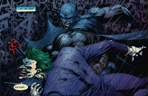 batman punches out the joker