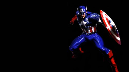 captain america on black