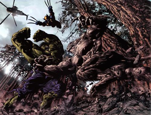 hulk, wolverine, sasquatch