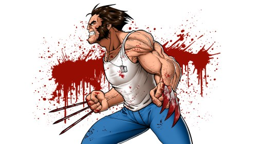 wolverine – blood splatter