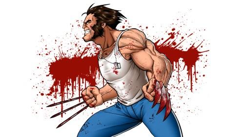 wolverine – blood splatter