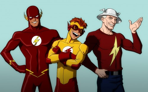 flash, kid flash and flash