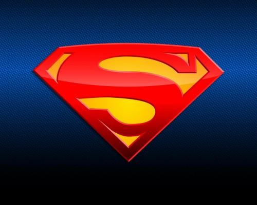 superman logo in blue